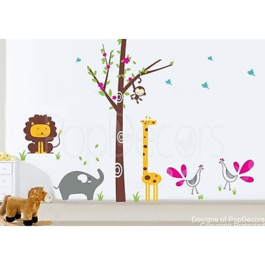 Pop Decors Fantasy Woodland Wall Decal; Dark Brown/Yellow