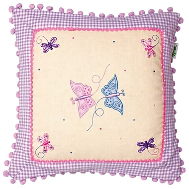 Win Green Butterfly Cottage Throw Pillow Cover