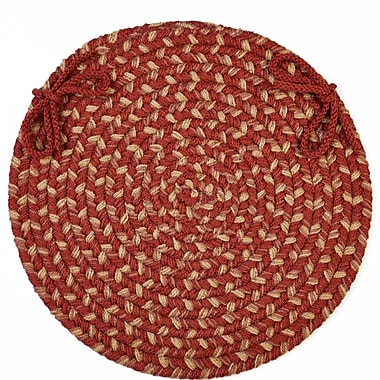 Wildon Home Chaneel Chair Pad; Warm Earth