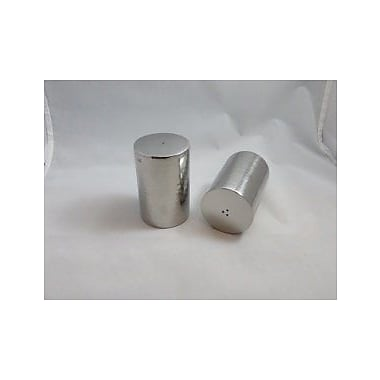 Prestige Cutlery Hammered Barrel Salt and Pepper Shaker Set; 3'' H x 7'' W x 7'' D