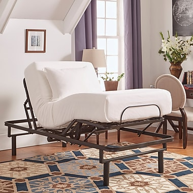Alwyn Home Adjustable Electric Bed Frame; Twin