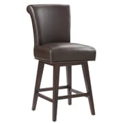 Sunpan Modern 5West Hamlett 26'' Swivel Bar Stool w/ Cushion; Brown