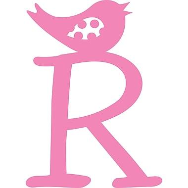 Enchantingly Elegant Monogram Letter ''R'' w/ Bird Wall Decal