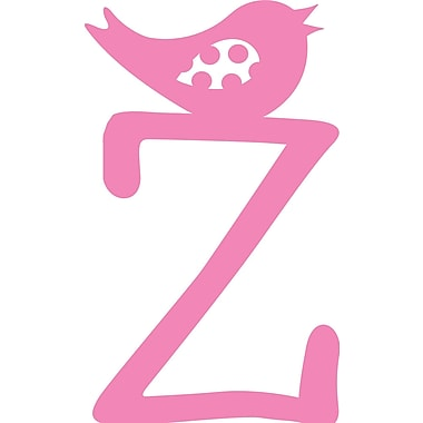 Enchantingly Elegant Monogram Letter ''Z'' w/ Bird Wall Decal