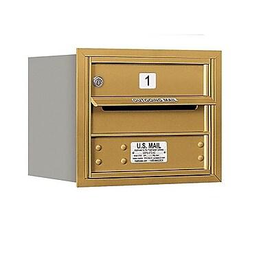Salsbury Industries Aluminum 1 Unit High 4C Horizontal Parcel Locker; Gold
