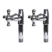 Giagni Traditional Straight Supply Stops w/ Metal Cross Handles; Polished Chrome