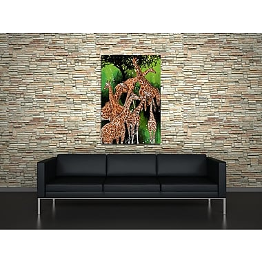Maxwell Dickson ''Group of Giraffe'' Painting Print on Canvas; 16'' H x 20'' W