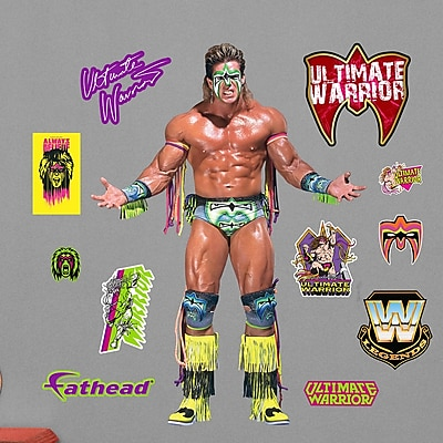Fathead WWE Ultimate Warrior Peel and Stick Wall Decal WYF078278047959