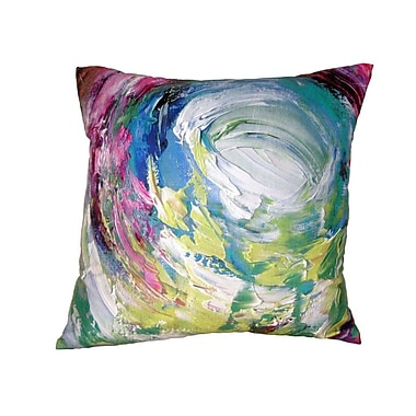 Mychael Darwin Gifts of Healing Compassion Leather Throw Pillow