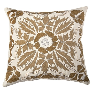 Wildon Home Dakoeta Pillow Cover; Gold