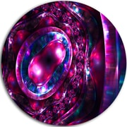 DesignArt Abstract 'Ornate Sparkle Violet and Blue' Graphic Art on Metal; 11'' H x 11'' W x 1'' D