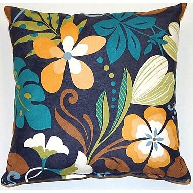 Creative Home Fun Floral Marine Cotton Throw Pillow