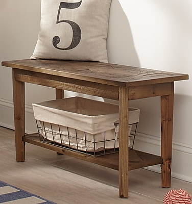Alaterre Renewal Wood Storage Bench