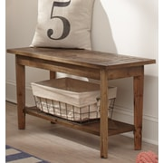 Alaterre Renewal Wood Storage Entryway Bench
