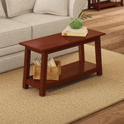 Alaterre Craftsman Wood Storage Bench; Cherry