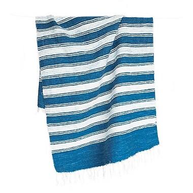 Ara Collective Raya Hand-Woven Blue Area Rug; 2'6'' x 5'