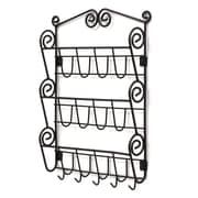 Spectrum Diversified Scroll Wall Mount Letter Holder in Black