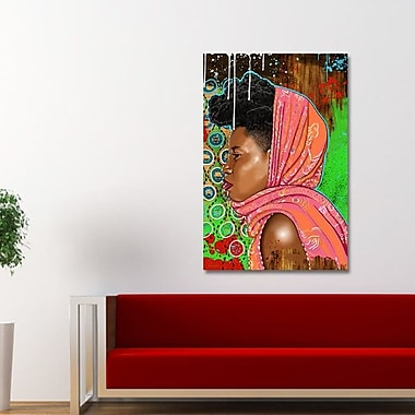 Maxwell Dickson ''Bassa Girl'' Graphic Art on Canvas; 20'' H x 30'' W