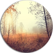 DesignArt 'Charming Rural Field in Morning' Photographic Print on Metal; 11'' H x 11'' W x 1'' D