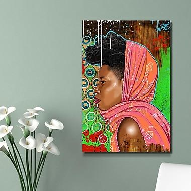 Maxwell Dickson ''Bassa Girl'' Graphic Art on Canvas; 24'' H x 36'' W