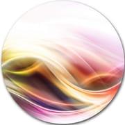 DesignArt 'Elegant Light Color Pattern' Graphic Art Print on Metal; 11'' H x 11'' W x 1'' D