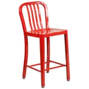 Alston 24'' Bar Stool; Red