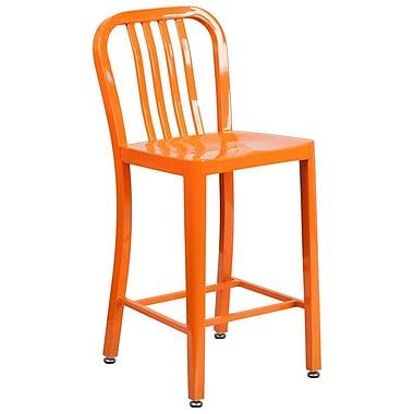 Alston 24'' Bar Stool; Orange