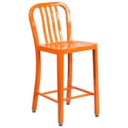 Alston 24'' Bar Stool; Orange