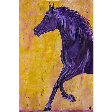 Marmont Hill ''Amoroso Arabian Horse'' Painting Print on Wrapped Canvas; 18'' H x 12'' W x 1.5'' D