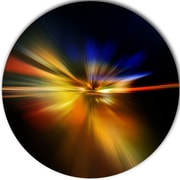 DesignArt 'Explosion of Light in Black' Graphic Art Print on Metal; 11'' H x 11'' W x 1'' D