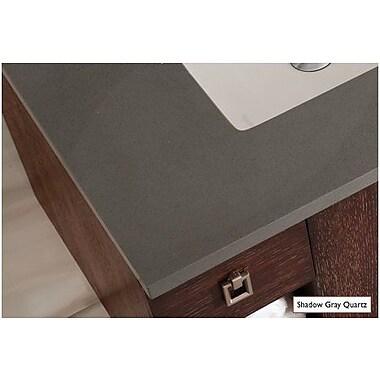 Bloomsbury Market Frye 72'' Double Cinnamon Free-standing Bathroom Vanity Set; Shadow Gray Quartz