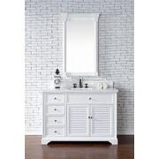 Darby Home Co Belfield 36'' Single Ceramic Sink Cottage White Bathroom Vanity Set; Cottage White