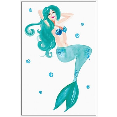 Marmont Hill 'Mermaid' Floater Framed Watercolor Painting Print Wrapped on Canvas