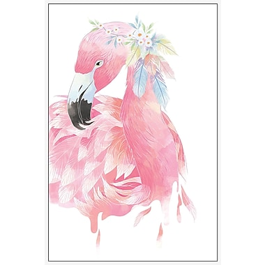 Marmont Hill 'Pink Flamingo' by Diana Alcala Floater Framed Painting Print on Canvas