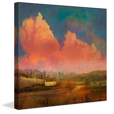 Marmont Hill 'Pastoral Sunset' by Chris Vest Painting Print on Wrapped Canvas