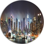 DesignArt 'New York Times Square in Blue Light' Cityscape Photographic Print on Metal