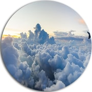 DesignArt 'Light Blue Heavy Clouds in Sky' Photographic Print on Metal; 11'' H x  11'' W x 1'' D