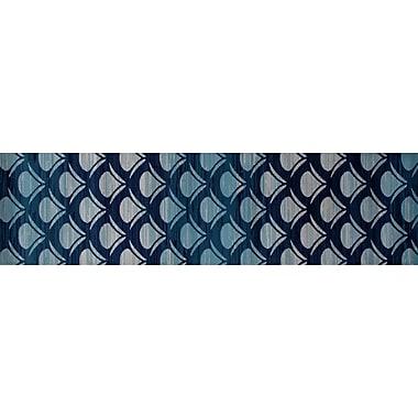 Art Carpet Seaport Waves Navy Indoor/Outdoor Area Rug; 6'7'' x 9'2''