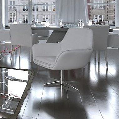 UrbanMod Swivel Lounge Chair; White