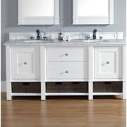 James Martin Furniture Madison 72'' Double Bathroom Vanity Base; Cottage White