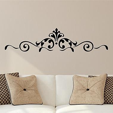 Enchantingly Elegant Scroll Embellishments Borders Home Decor Wall Decal; 10'' H x 43'' W
