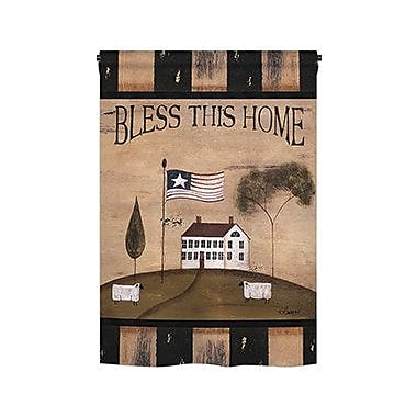 TwoGroupFlagCo Bless This Home 2-Sided Vertical Flag; 18.5'' H x 13'' W