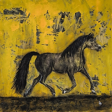 Marmont Hill ''Barnaby Australian Stock Horse'' Painting Print on Wrapped Canvas