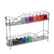 Spectrum Diversified Countertop 2 Tier Nail Polish Cosmetic Organizer; Chrome