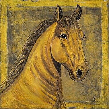 Marmont Hill ''D oro Palomino Horse'' Painting Print on Wrapped Canvas; 48'' H x 48'' W x 1.5'' D