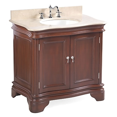 KBC Katherine 36'' Single Bathroom Vanity Set; Chocolate