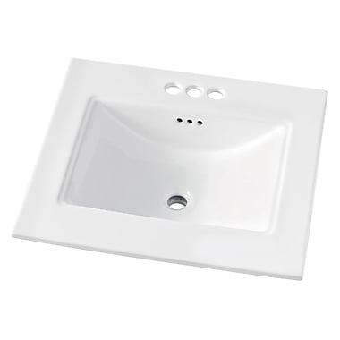 Maykke Brighton 25'' Single Bathroom Vanity Top; 4'' Centerset