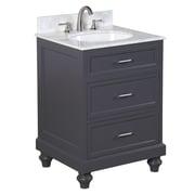 KBC Amelia 24'' Single Bathroom Vanity Set; Charcoal Gray