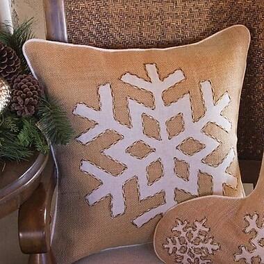 Farrisilk, Inc. Snowflake Burlap Throw Pillow