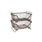 Rebrilliant Stackable Basket Tray; Bronze